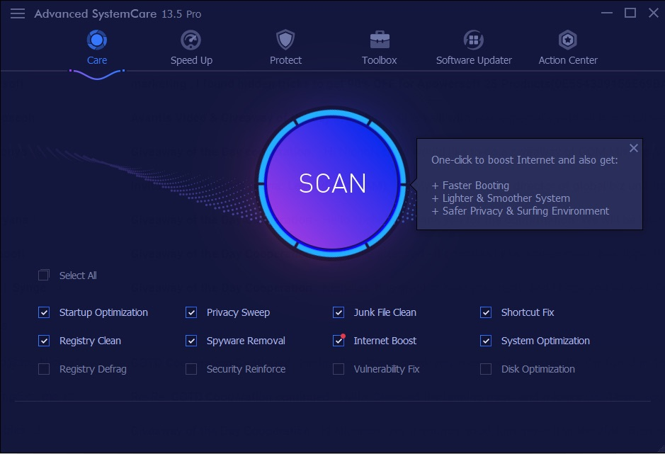 免费获取半年 IObit Advanced SystemCare Pro 13[Windows][$19.99→0]