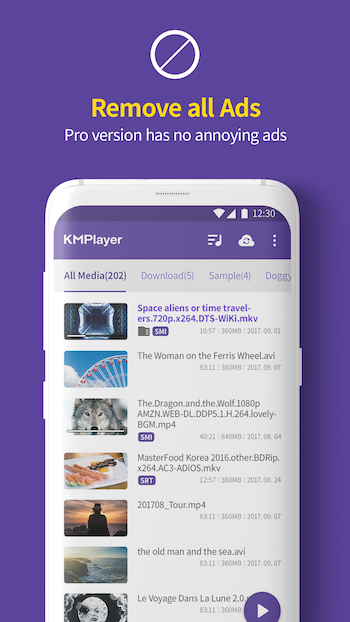 KMPlayer Pro - 多媒体播放器[Android][$3.49→0]