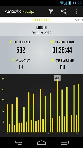 Runtastic Pull-ups Workout PRO - 引体向上专业版[Android][$1.99→0]