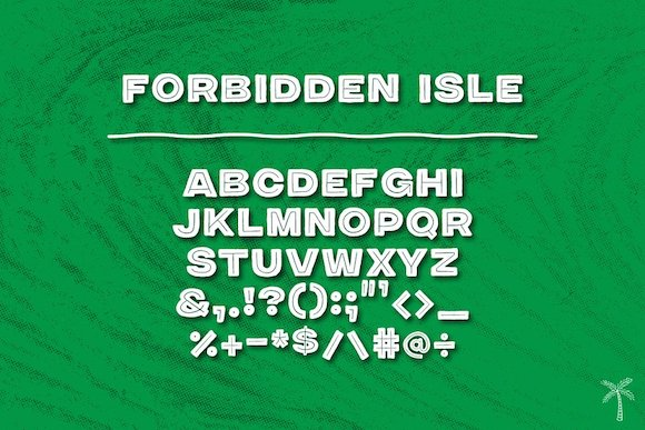 限免字体 Forbidden Isle[Windows、macOS][$9→0]