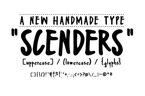 限免字体 Scenders[Windows、macOS]